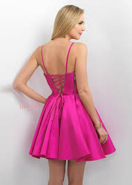 unique trends sweetheart thin straps corset back pink homecoming