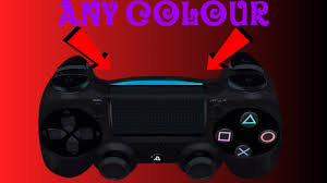 how to change the color of ps4 controller light how to change your ps4 controller light to any colour youtube