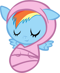 image newborn rainbow dash asleep by atnezau png my little