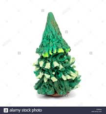 hand made plasticine or modeling clay figure of christmas tree