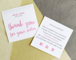 thank you for your order cards instant
