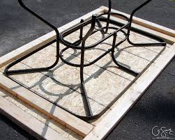 Mosaic Top Patio Table Salvage A Patio Table By Building A New Top For It With Tile And