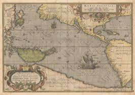 Caribbean Ocean Map by Pacific Ocean Historic Maps