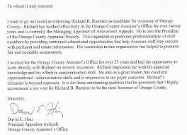 endorse richard b ramirez candidate for orange county assessor