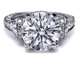 large diamond rings images Engagement ring large graduated pave cathedral diamond engagement JPG