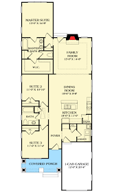 narrow floor plans and narrow craftsman house plan 17732lv architectural