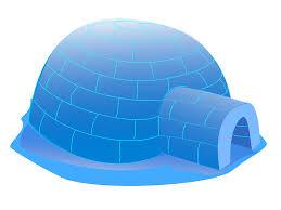 big blue igloo clip art at clker com vector clip art online