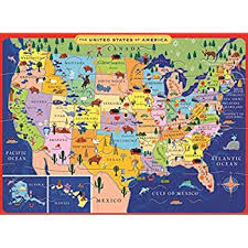 usa map kindergarten eeboo united states usa map puzzle for 20 pieces