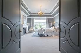 double bedroom doors gray double bedroom doors with paneling transitional bedroom