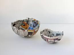 paper mache home decor how to make paper mache bowls hgtv