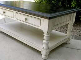 antique white distressed coffee table little bit of paint refinished coffee table diy pinterest
