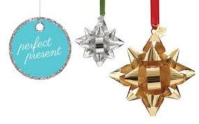 present kate spade bow ornament
