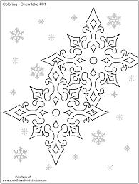 free printable snowflakes color