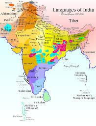 Varanasi India Map by Languages Of India Hindu Sthan Sanathana Dharma Bharat