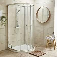 Pacific Shower Doors Pacific D Shape Quadrant Shower Enclosure Inc Tray Waste Easy