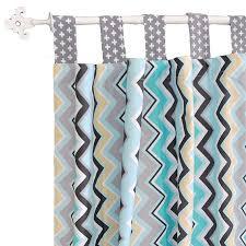 chevron curtains aqua nursery curtains kids curtains