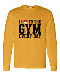 pokemon i go to the gym everyday youth boys girls long sleeve tee