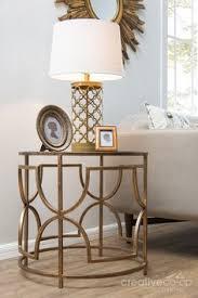 Quatrefoil Side Table Uttermost Quatrefoil Antique Gold Round Coffee Table