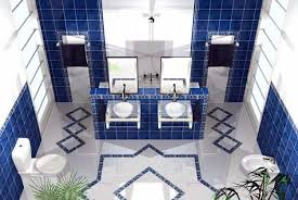 Simple Blue And White Bathroom Decor For Small Space  This Very - Blue bathroom design ideas