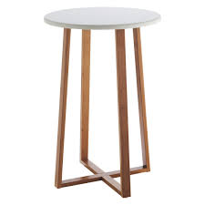 drew bamboo and white lacquer tall side table tall side table