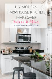 diy modern kitchens diy modern farmhouse kitchen makeover final reveal u0026 full source