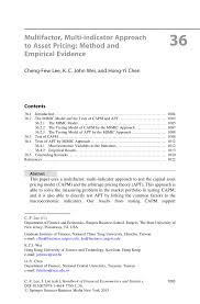 multifactor multi indicator approach to asset pricing method and