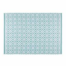 Blue And White Outdoor Rug Jane White And Blue Geometric Motif Outdoor Rug 140 X 200 Cm