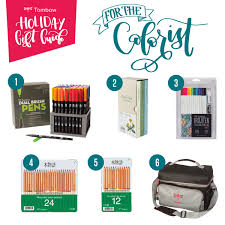 holiday gift guide coloring gifts from tombow tombow usa blog