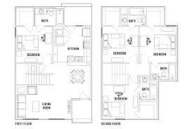 Sycamore Floor Plan Floor Plans Villas On Sycamore Student Housing Huntsville Tx