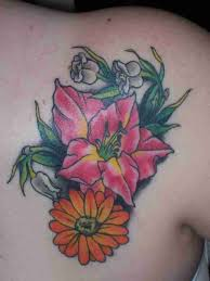 birth flower for december tattoos pictures reference
