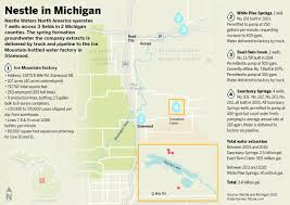 Cities In Michigan Map by Nestle In Michigan Unpacking The Water Battle Backstory Mlive Com