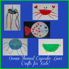 ocean animal cupcake liner crafts for kids wikki stix