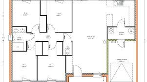plan plain pied 5 chambres plan maison une chambre plan maison 3 chambres plein pied garage