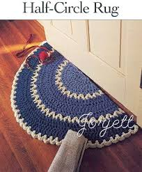 Half Circle Kitchen Rugs Half Circle Rug Easy Q Hook Crochet Pattern Crochet