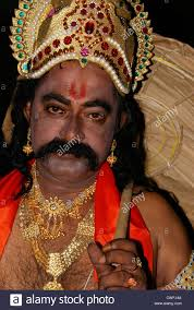 maveli or king mahabali model dressing with ornaments and