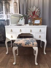 lovely shabby chic french style dressing table with small mirror