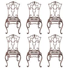 Repainting Wrought Iron Furniture by Jean Charles Moreux Painted Wrought Iron Chairs Set Of 6 Wrought