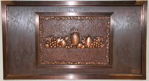 idea share kitchen backsplash design using unique cast metal art