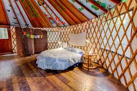 Living In A Yurt by Enchanted Forest Yurt Shanti Permaculture Farm Ca 25 Hipcamper
