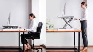 Sit Or Stand Desk by Adjustable Sit Stand Desktop Workstation Desk Riser Youtube