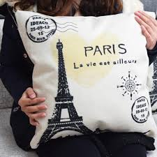 vintage paris eiffel tower pillow cushion cover pillow case home