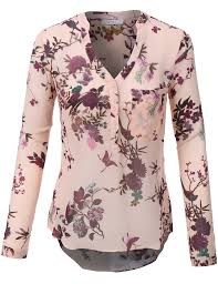 floral blouse womens roll up sleeve floral print chiffon blouse top print