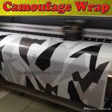 Ford Camo Truck Wraps - black white grey arctic camouflage camo vinyl for car wrap pixel