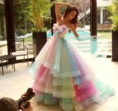 amazing rainbow wedding dresses 2016 colorful handmade flowers