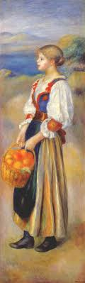 the girl with a basket of oranges pierre auguste renoir oil painting in factory