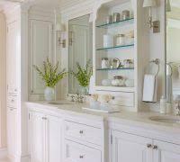 apothecary bathroom jars laundry room farmhouse with wood counter