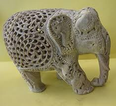 Alabaster Stone Carved Bull Home by Amazon Com Banarsi Soapstone Handcrafted Elephant With Baby