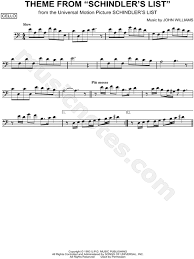 Theme Schindler S List Cello | theme from schindler s list from schindler s list sheet music