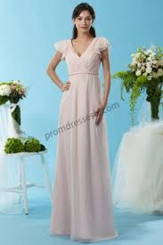 prom dresses online chiffon short sleeves bridesmaid dress with