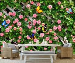 compare prices on wall mural garden online shopping buy low price 3d wall murals wallpaper for living room walls 3 d photo wallpaper romantic pastoral rose garden